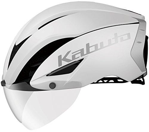 OGK KABUTO(オージーケーカブト) ヘルメット AERO-R1 マットホワイト-1 S/M (頭囲 55cm~58cm)