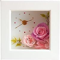 Azurosa(アズローザ) プリザーブドフラワー 時計 花の時計 ギフト キャンディーローズ バラ アジサイ グレープ