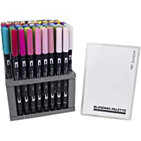 Tombow Dual Brush Marker 96pc Set W/Desk Stand- (並行輸入品)