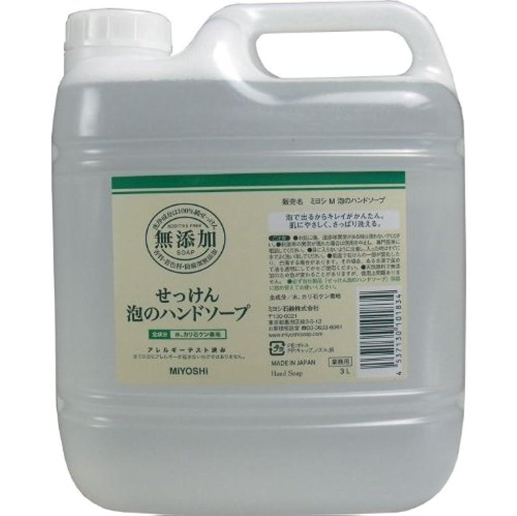 ガラガラ腕階泡で出るからキレイが簡単!家事の間のサッと洗いも簡単!香料、着色料、防腐剤無添加!(業務用)3L【4個セット】