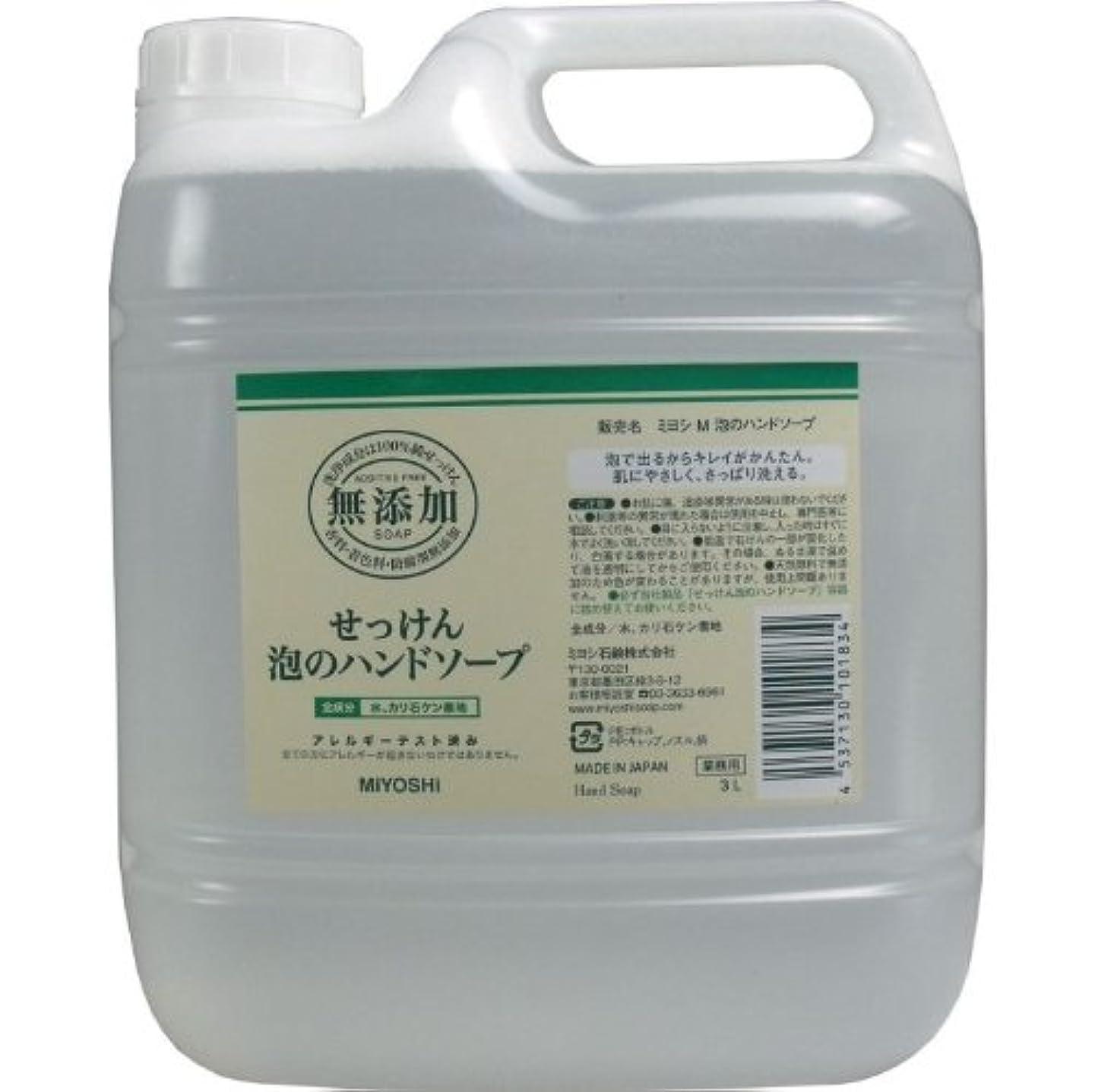 認知ゲインセイ敵泡で出るからキレイが簡単!家事の間のサッと洗いも簡単!香料、着色料、防腐剤無添加!(業務用)3L【5個セット】