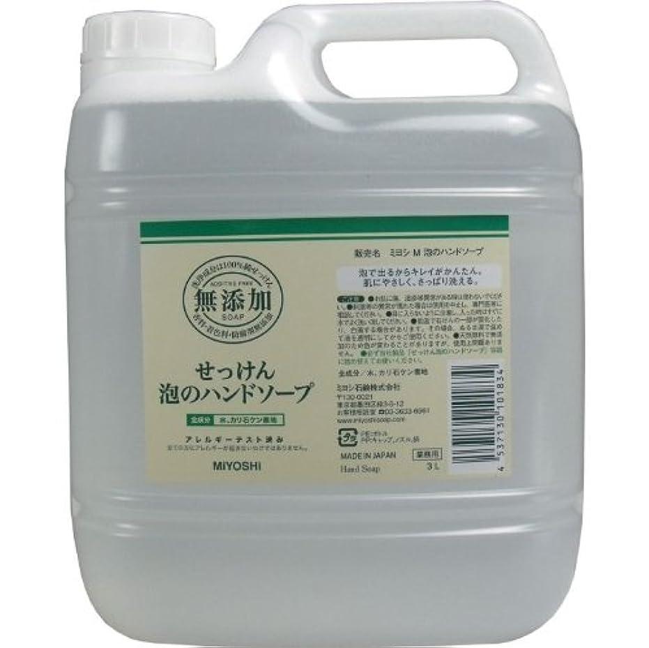 コミットメント甘くするバンガロー泡で出るからキレイが簡単!家事の間のサッと洗いも簡単!香料、着色料、防腐剤無添加!(業務用)3L【3個セット】