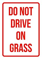 Do Notドライブon Grass No駐車場ビジネス安全Traffic Signsレッド–7.5X 10.5 7.5 x 10.5 レッド S3427jig-ICP-Plastic