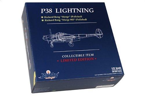 """1:72 Witty Sky Guardians (シリーズ 2) WTW72020-08B ロックヒード P-38J Lightning ダイキャスト モデル USAAF 49th FG, """"993"""