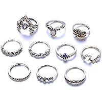 VPbao 10pcs Women Bohemian Retro Ring Set Big Dipper Joint Knuckle Rings Jewellery