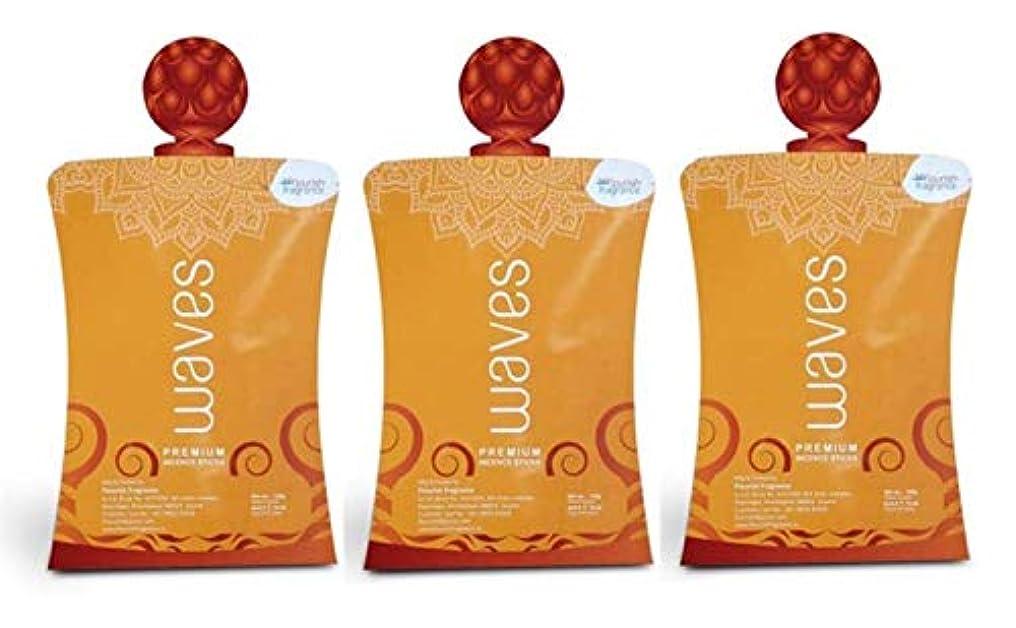 レンズ土器解放するFLORISH FRAGRANCE Waves Orange Incense Sticks Pack of 3 (140 Gm Each)