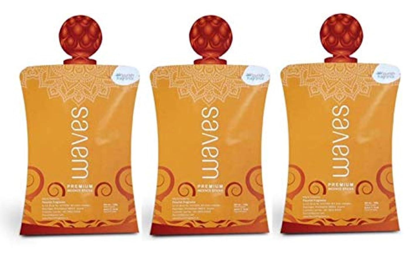 恐怖症反動物思いにふけるFLORISH FRAGRANCE Waves Orange Incense Sticks Pack of 3 (140 Gm Each)