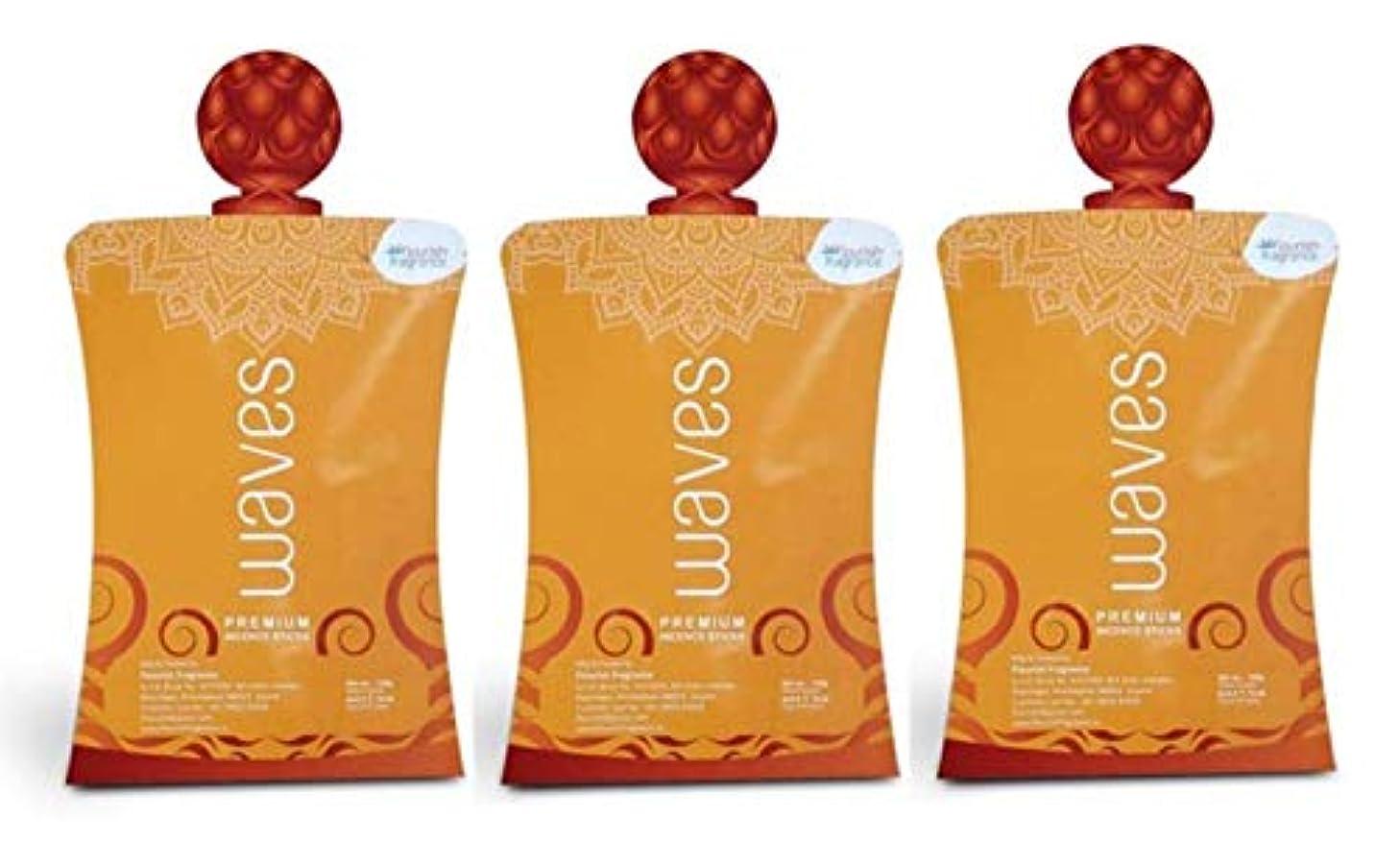 カウントアップ窒息させる率直なFLORISH FRAGRANCE Waves Orange Incense Sticks Pack of 3 (140 Gm Each)