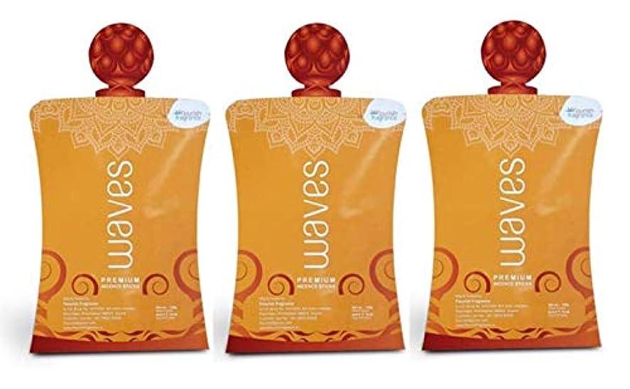 ランプ加速度霊FLORISH FRAGRANCE Waves Orange Incense Sticks Pack of 3 (140 Gm Each)