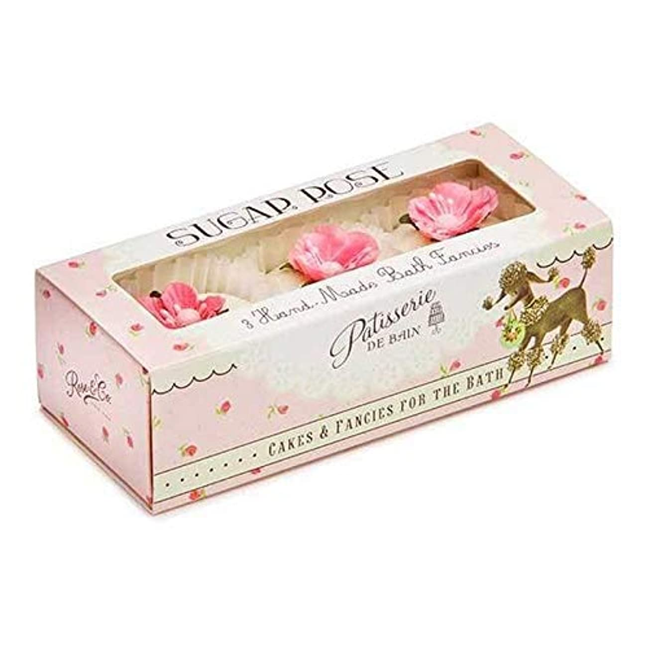 [Patisserie de Bain ] パティスリー?ド?ベイン砂糖はお風呂が3×45グラムを溶かしバラ - Patisserie de Bain Sugar Rose Bath Melts 3 x 45g [並行輸入品]