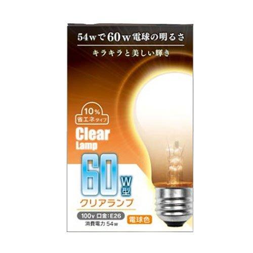 電球 クリアランプ 60W型 100V 54W E26 9081-5...