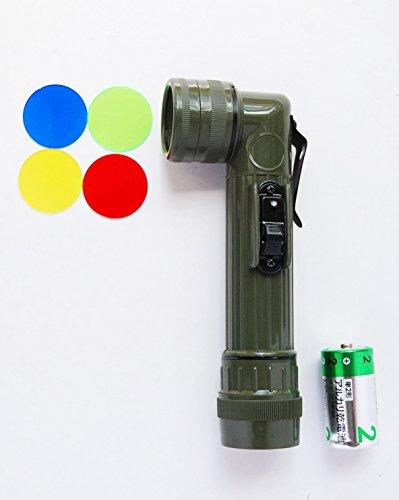 自衛隊 LED 小型 L型ライト 懐中電灯 サバゲー 軍用ラ...
