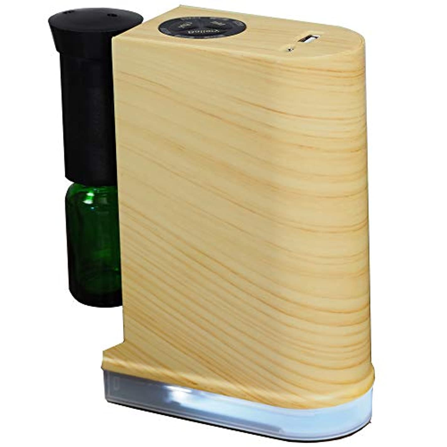 原始的な有名人暴露精油用 ネブライザー式 アロマディフューザー 31 LEDライト付 (カラー:ナチュラル) / ###アロマ2019ナ###
