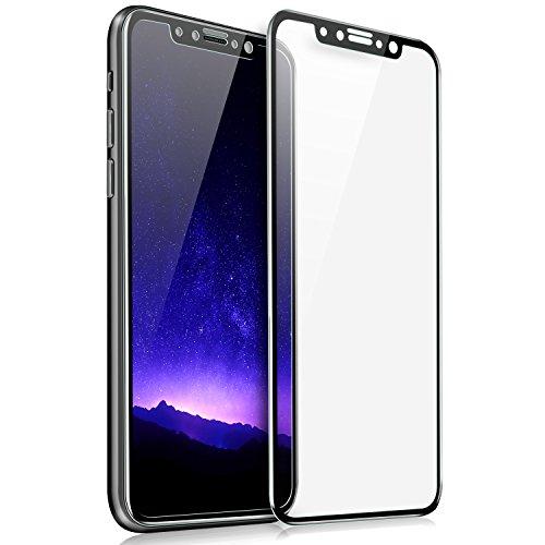 ELTD iPhone x フィルム 強化ガラス iPhonex 保護フィルム 3D曲面加工 日本製素材旭硝子製 ブラック