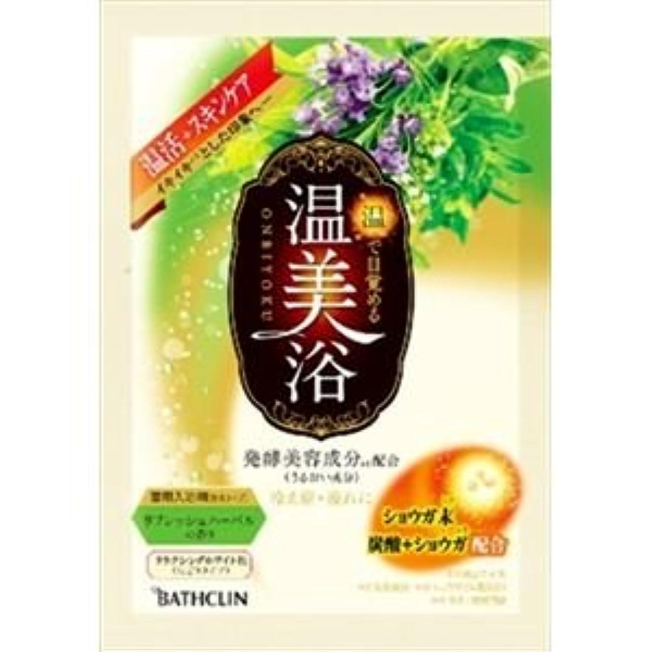 ローン赤道休日(まとめ)バスクリン 温美浴 リフレッシュハーバルの香り 40g 【×6点セット】