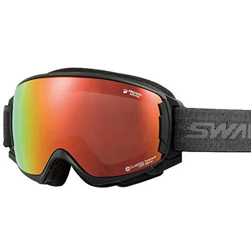 SWANS(スワンズ) スワンズ スキーゴーグル 偏光レンズ ROVO-MPDH-SC-MIT-PAF マットブラックF(18-19 2019)SWANS ゴーグル【C1】