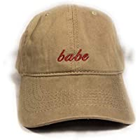 Urban Embroidery - Babe Urban Embroidered dad hat Baseball Cap Unisex (Tan)