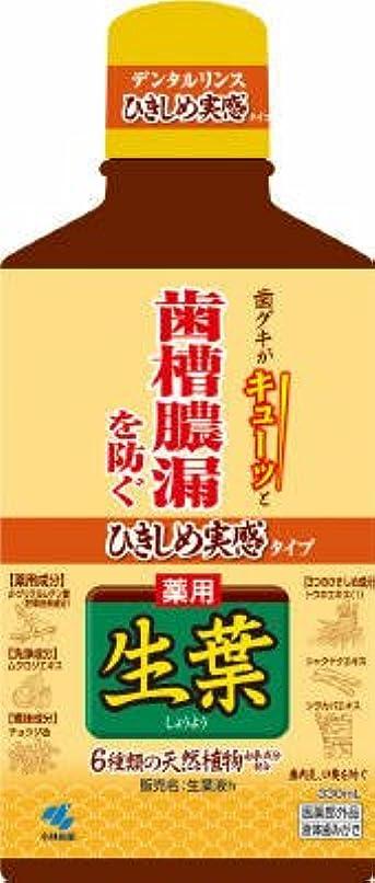 年ヘクタールスキッパー小林製薬 ひきしめ生葉液 330ml×20本セット  歯槽膿漏、歯肉炎を予防 医薬部外品 ひきしめ実感のあるハーブミント味(デンタルリンス)
