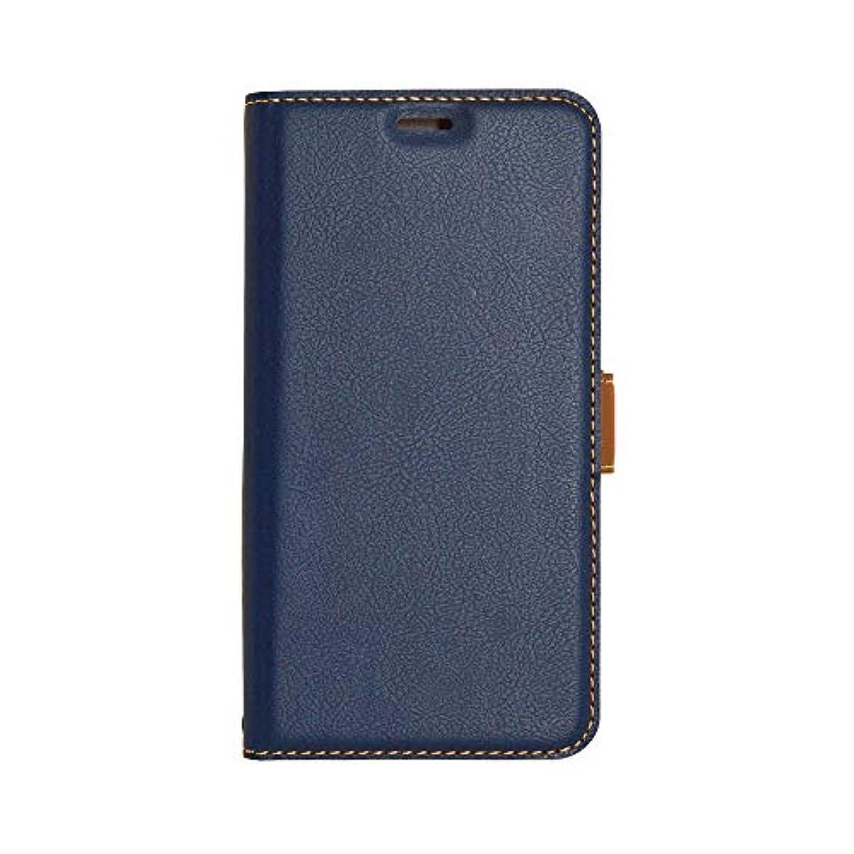 守る探すスカリーラスタバナナ iPhone XR ケース/カバー 手帳型 +COLOR 薄型 サイドマグネット NV×BR アイフォン スマホケース 4241IP861BO