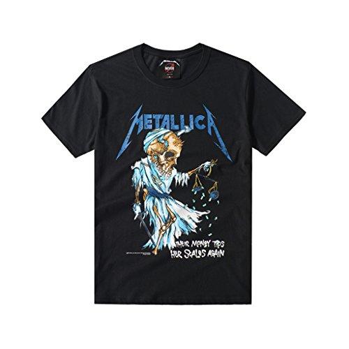 METALLICA(メタリカ) Tシャツ/ ブラック サイズL [並行輸入品]