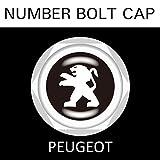 【PEGEOT】【ナンバープレート用】プジョー ナンバーボルトキャップ NUMBER BOLT CAP 3個入りセット タイプ1 ブラガ - 2,500 円