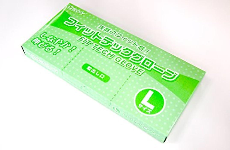 ヒゲ八百屋ノートオルディ フィットテック グローブ(L)半透明×30