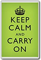 Keep Calm And Carry On Motivational Faded Medium Green Art Poster Print - Motivational Quotes Fridge Magnet - ?????????