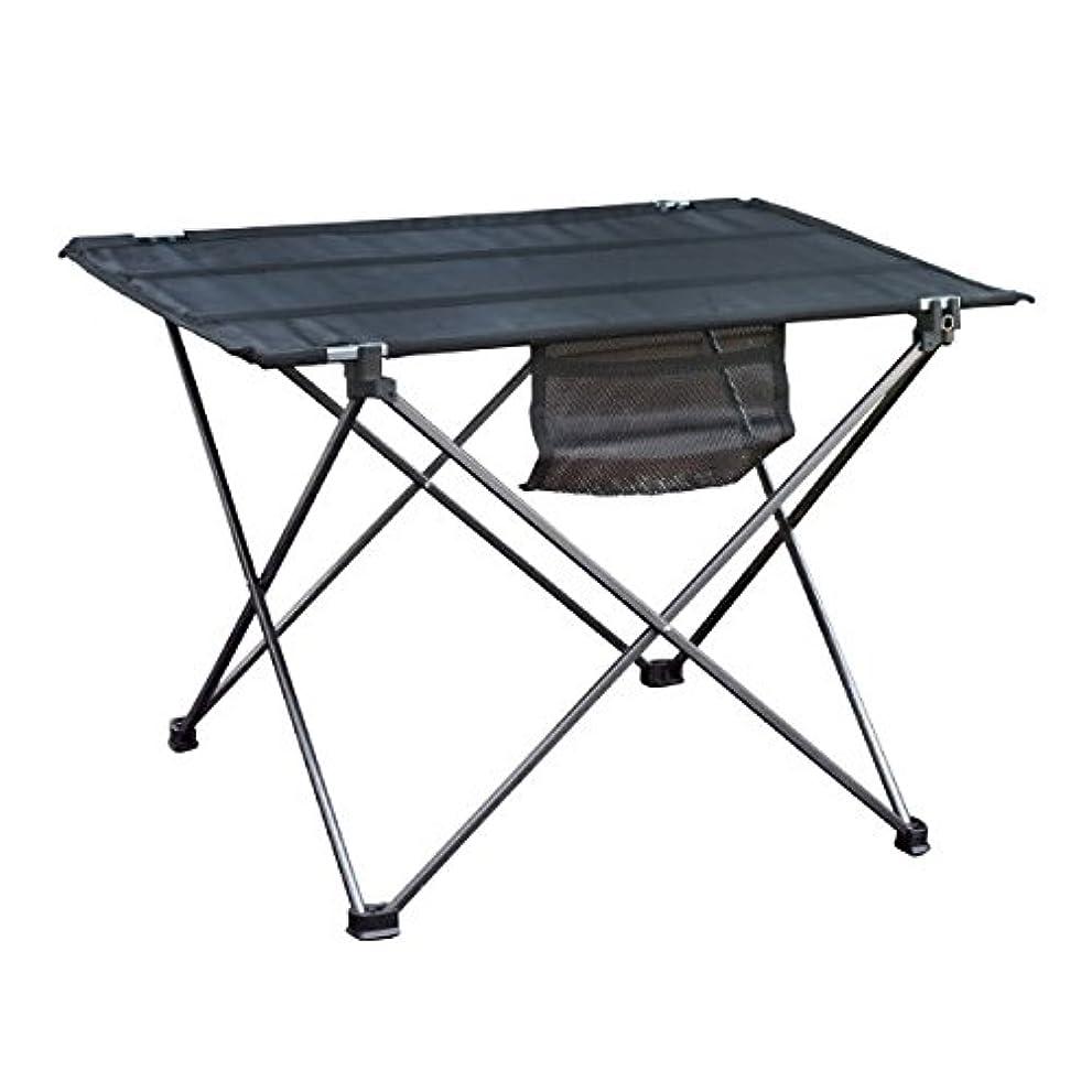 無礼に追う追い付くアウトドア テーブル レジャーテーブル 折り畳み 軽量 耐荷重80Kg M チタン 収納袋付き キャンプ_86221