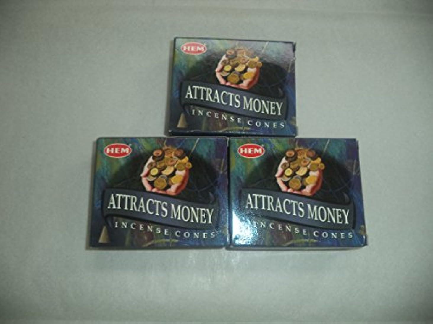 いつも王室ありがたいHem Attracts Money Incense Cones、3パックの10 Cones = 30 Cones