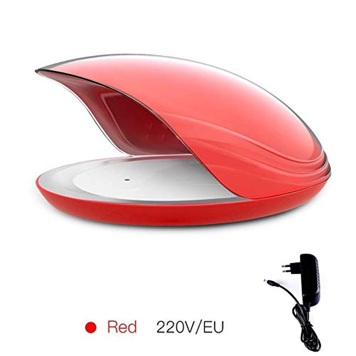 幸運な冊子年LittleCat メモリーネイルネイルポリッシュプラスチックドライヤーランプのツールインテリジェント80WネイルUVライトセンシングタイミング (色 : Red round insert)