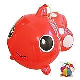 【ビニール玩具】BIGエア金魚(3個入) / お楽しみグッズ(紙風船)付きセット [おもちゃ&ホビー]