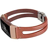 somoder ハンドメイドレザーバンド Fitbit Charge 3 ハンドメイドバイファーケイト ヴィンテージレザーブレスレット 交換用 Fitbit Charge 3 (DIYスタイル)