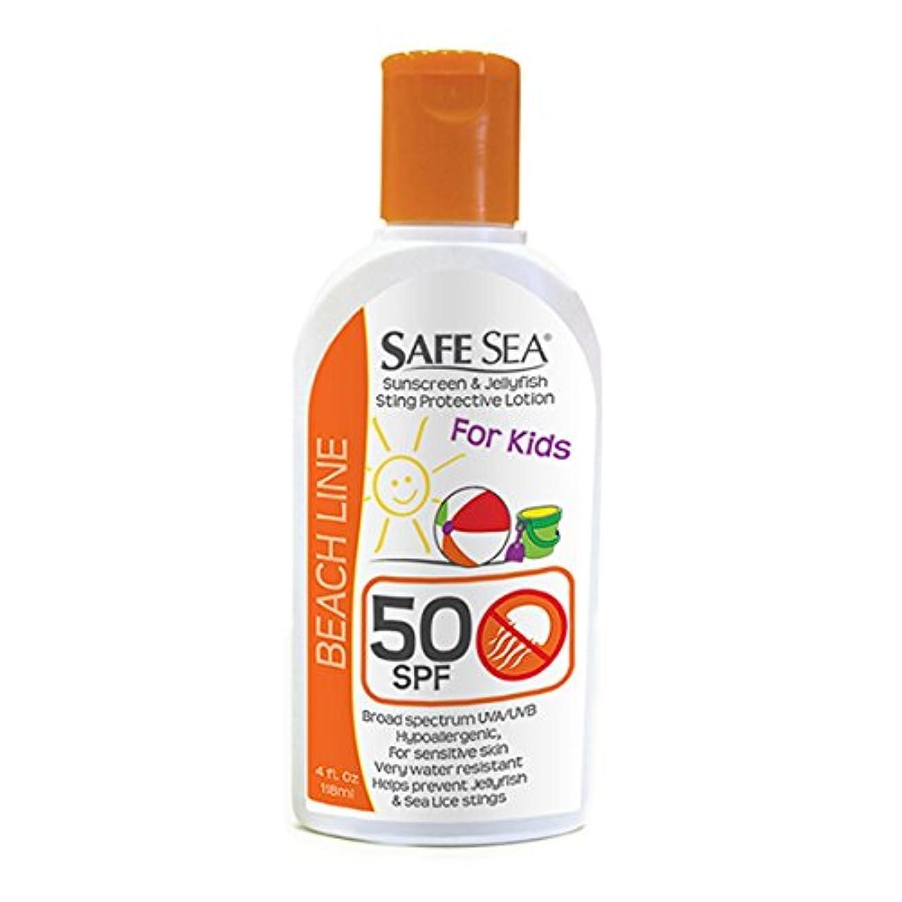 政権専門適度にSafe Sea Anti-jellyfish Sting Protective Lotion - Sunscreen - Sunblock - Sea Lice - Jelly Fish (SPF50 Kids, 4oz...
