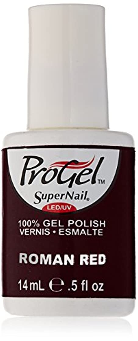 悲しいメトロポリタン二週間SuperNail ProGel Gel Polish - Roman Red - 0.5oz / 14ml