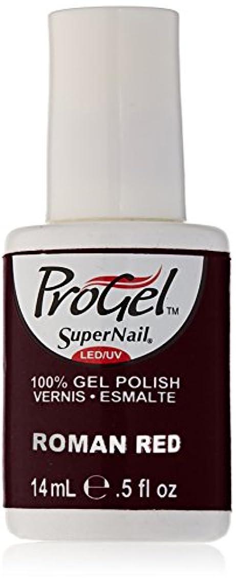 帰る気球飛行場SuperNail ProGel Gel Polish - Roman Red - 0.5oz / 14ml
