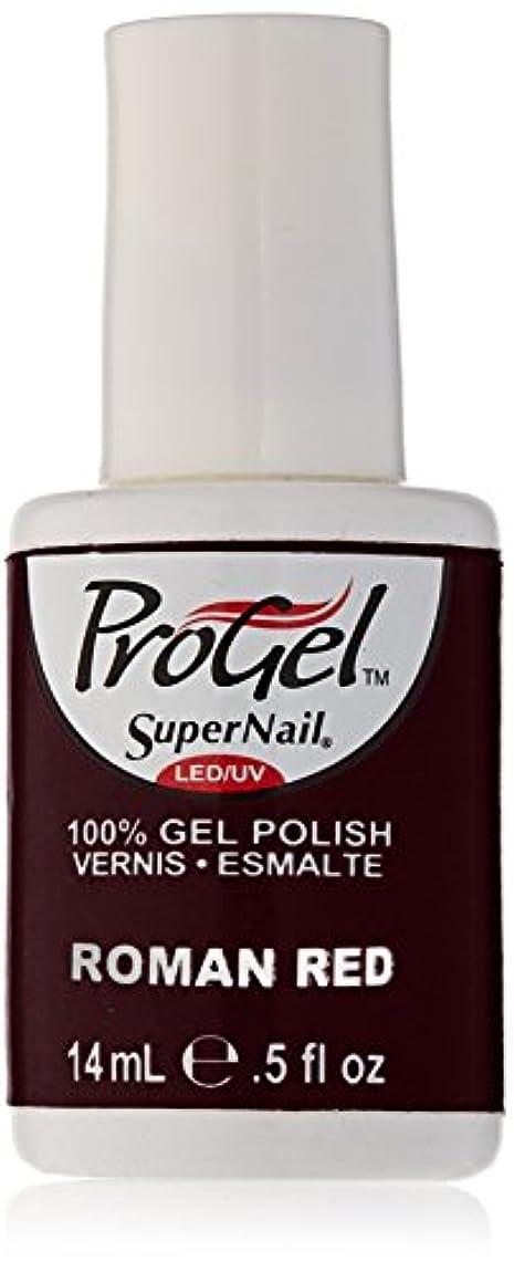 伸ばす注ぎます敗北SuperNail ProGel Gel Polish - Roman Red - 0.5oz / 14ml