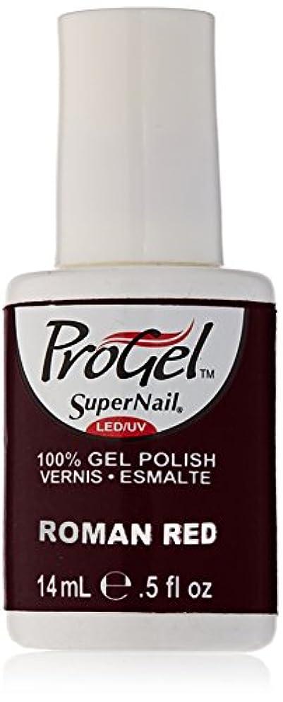 卑しい標高薬局SuperNail ProGel Gel Polish - Roman Red - 0.5oz / 14ml