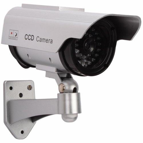 太陽光パネル搭載で半永久的に使用可能 防犯 ダミーカメラ LED 常時点滅で不審者を追い出す 並行輸入品