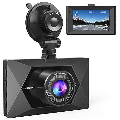 Crosstour ドライブレコーダー 1080P ドラレコ フル HD 暗視 170°広角 F1.8 常時録画 衝撃録画 ループ録画 動体検知 1年保証