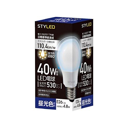 LED電球 口金直径26mm 40W形相当 530ルーメン 昼光色 全方向 全配光タイプ 密閉器具対応 SDA40TD1