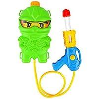 夏の屋外の赤ちゃんのおもちゃの銃スイミングプールとビーチのゲーム、小さなウォーターガンバックパックウォーターガンの子供、ウォーターシューティングおもちゃの漫画の形をしたバックパック、 ( Color : A )