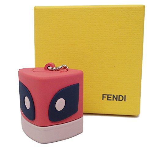 フェンディ USBメモリ チャーム バッグバグズ キーホルダー ラバー モンスター ピンク系[未使用]中古