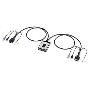 サンワサプライ フルHD対応DVIパソコン自動切替器(2:1) SW-KVM2DU