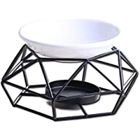 セラミックエッセンシャルオイルバーナーアロマディフューザー、幾何学的な鉄キャンドルキャンドル炉ティーライトホルダーキャンドルスティック炉ホームオフィス装飾