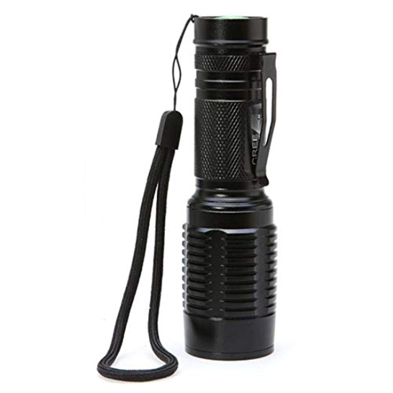風景スリップシューズ登録するノウ建材貿易 懐中電灯多機能LEDズームズーム屋外光キャンプランプ毎日の使用 (色 : 黒)