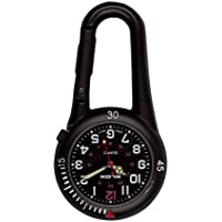 Black Clip on Carabiner FOB Watch Ideal for Doctors Nurses Paramedics Chefs