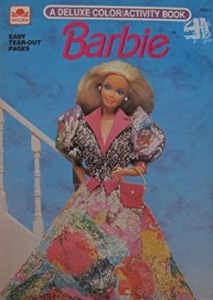 Barbie(バービー) Deluxe Color / Activity Book w Paper Doll on Back & Easy Tear Out Pages (1991 Golden, Mattel) ドール 人形 フィギュア(並行輸入)