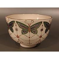 茶道具 抹茶茶碗  色絵 瓔珞(ようらく)文画、京焼 相模竜泉作