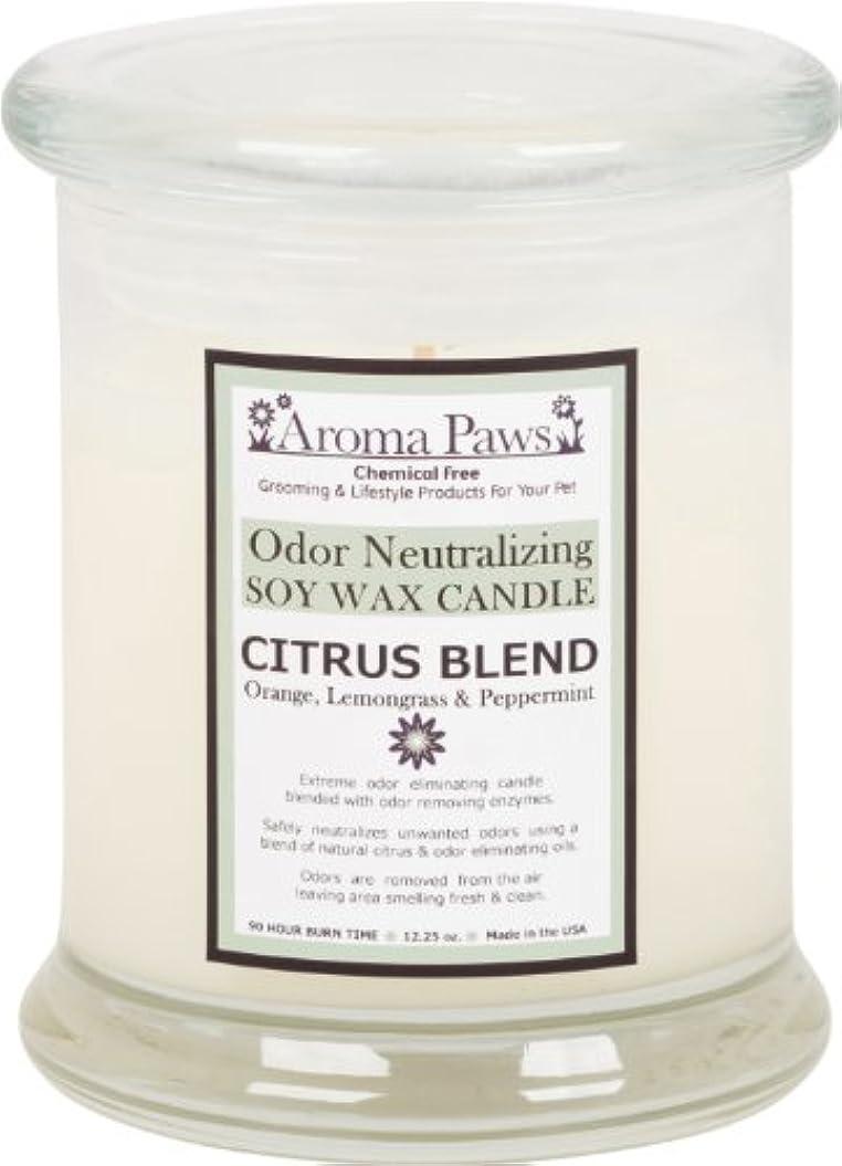 ヒロイックグリースハブAroma Paws Odor Candle, 12-Ounce, Citrus by Aroma Paws