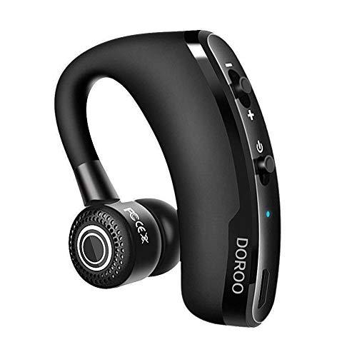 [進化版]DOROO Bluetooth ヘッドセット ワイヤレス イヤホン Bluetooth イヤホン 片耳 ブルートゥースイヤホン 左右耳兼用 高音質 通話 ビジネス スポーツ 通勤 通学 車用V4.1 マイク内蔵 Iphone Android Windows PC スマートフォンに対応 ミニ 軽量 (ブラック)